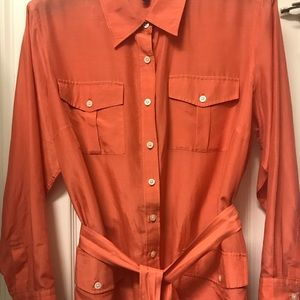 Ralph Lauren blouse. Worn once then dry cleaned.